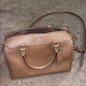 Slightly used condition brown leather Coach purse